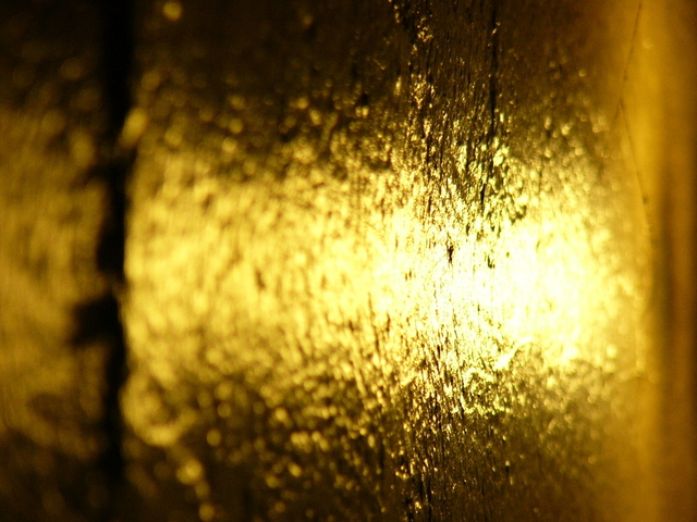 Detail of a lustrous gold bar.