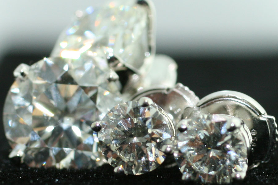 An assortment of Diamond studs